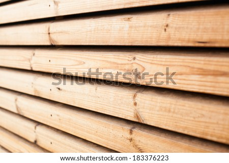 wooden planks arranged horizontally can be used as background - stock photo