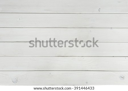 wooden planks covered with white paint top view - stock photo