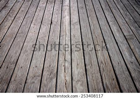 Wooden planks floor texture background - stock photo