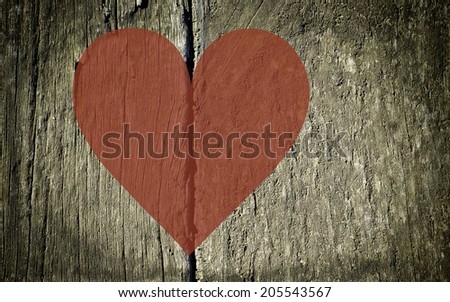 wooden planks with a join in the middle used as a background - stock photo