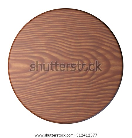 Wooden plate for meat and vegetable, isolated on white background  - stock photo
