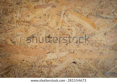 Wooden pressed shavings natural background - stock photo