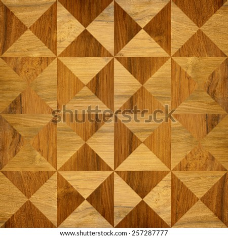 Wooden pyramids - seamless background - different colors - stock photo