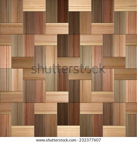 Wooden rectangular parquet stacked for seamless background. - stock photo