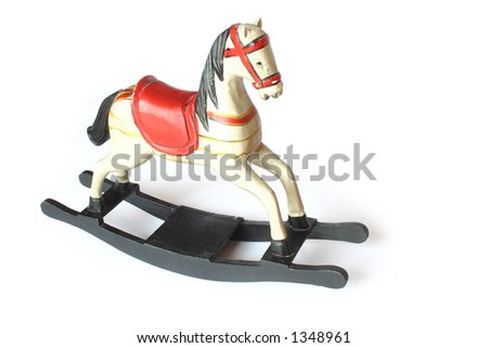 Wooden Rockin'  Horse - stock photo