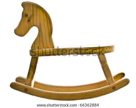 wooden Rocking Horse - stock photo