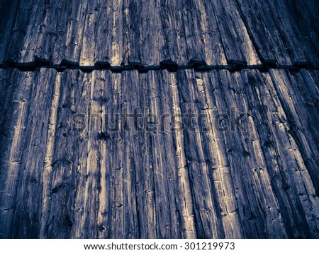 Wooden roof abstract colors background - stock photo