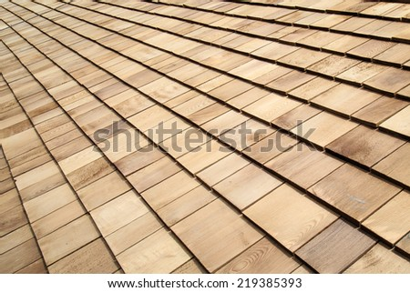 Wooden roof Shingle texture - stock photo