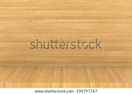 Wooden shelf. Empty wooden shelf or bookshelf. realistic wood - stock photo
