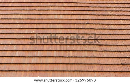 Wooden shingles for creative background - stock photo