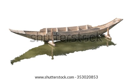 wooden ship - stock photo