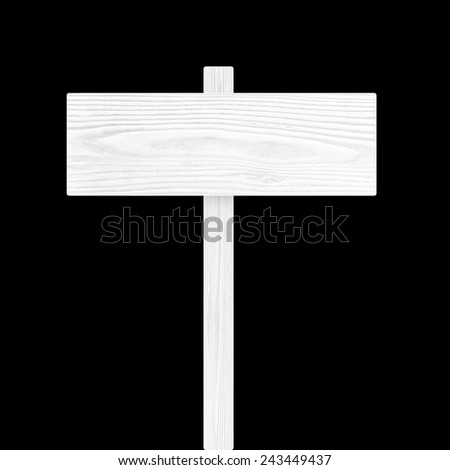 Wooden sign isolated on Black - stock photo