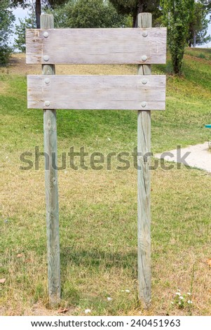 Wooden signposts to put your Text - stock photo