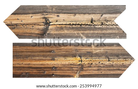 Wooden signs  - stock photo