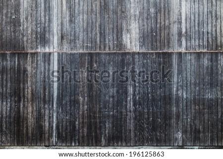 Wooden Slat Wall Background Texture - stock photo