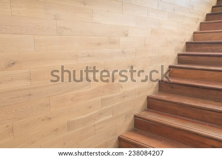 wooden staircase - stock photo