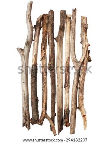 Wooden sticks - stock photo