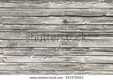 Wooden surface of the horizontal dark boards - stock photo