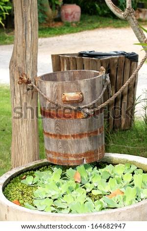 Wooden tank  - stock photo