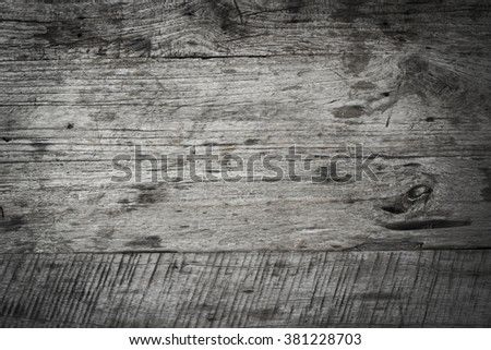 Wooden texture black and white with vignetting effect - stock photo