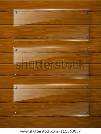 Wooden texture with glass framework. Jpeg version. - stock photo