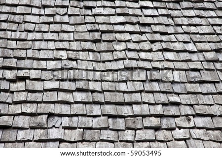 wooden tiles, texture background - stock photo