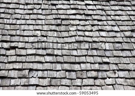 wooden tiles, texture background - stock photo