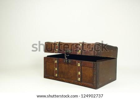 Wooden Treasure Chest - stock photo