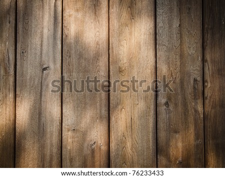 Wooden wall background or texture - stock photo