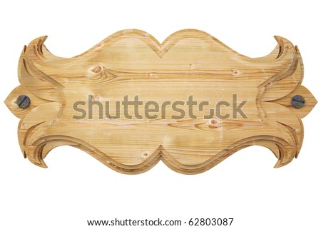 wooden wall panel. with clipping path. - stock photo
