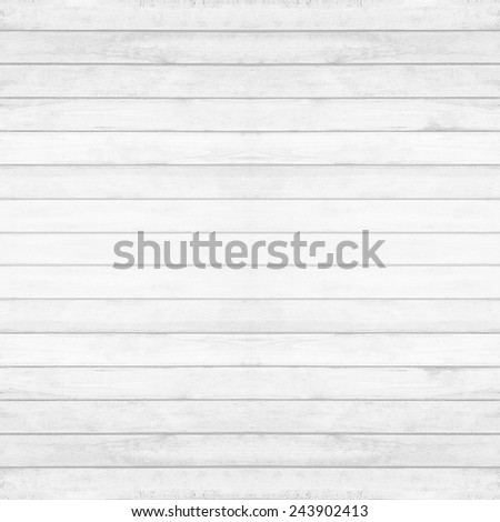 Wooden wall texture background, gray-white vintage color - stock photo