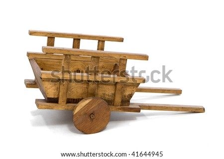 Wooden Wheelbarrow - stock photo