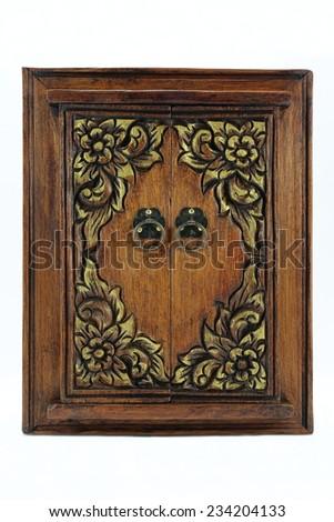 Wooden windows, Thailand - stock photo