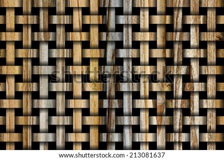 Woodgrain Weave Design - stock photo