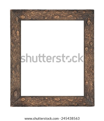 Woodland Forest Log Picture Frame - stock photo