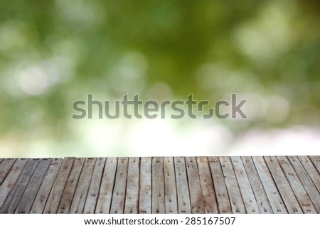 Woods with blur background. - stock photo
