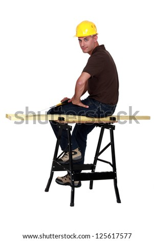 Woodworker - stock photo