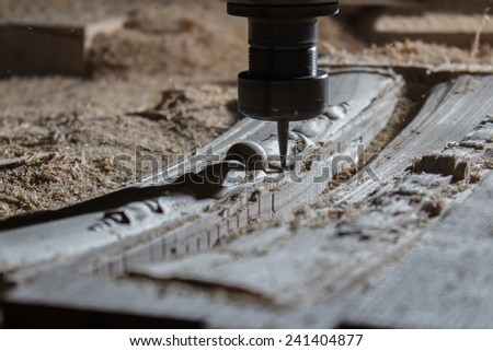 woodworking milling machine - stock photo