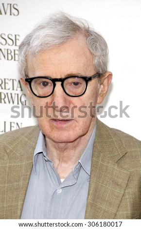 Woody Allen at the 2012 Los Angeles Film Festival premiere of 'To Rome With Love' held at the Regal Cinemas L.A. LIVE Stadium in Los Angeles, USA on June 14, 2012. - stock photo