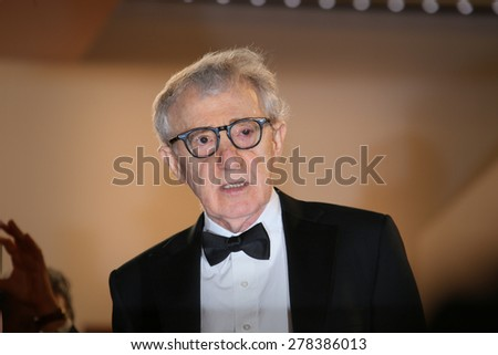 Woody Allen attends the Premiere of 'Irrational Man' during the 68th annual Cannes Film Festival on May 15, 2015 in Cannes, France. - stock photo