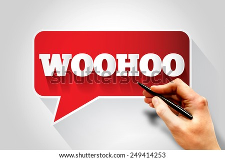 WOOHOO text message bubble, business concept - stock photo