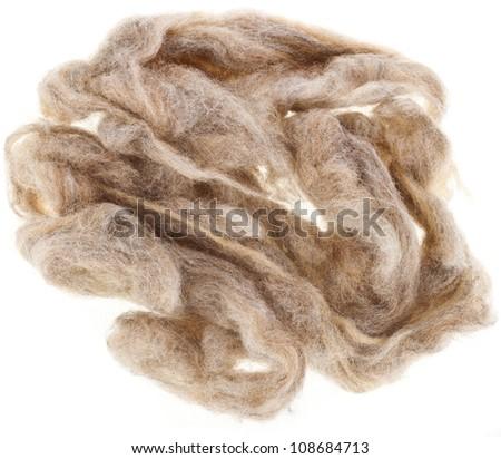Wool  fleece - stock photo