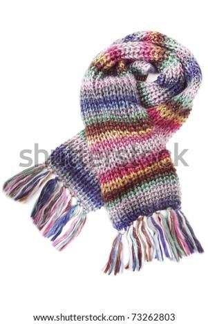 Wool scarf - stock photo