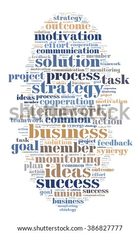 Word cloud business theme on white background  - stock photo