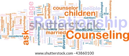 Word cloud concept illustration of  relationship counseling - stock photo
