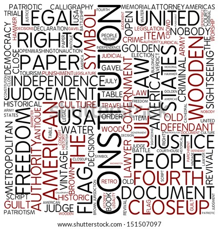 Word cloud - constitution - stock photo