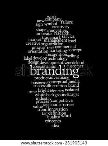 Word Cloud containing words related to Branding. - stock photo
