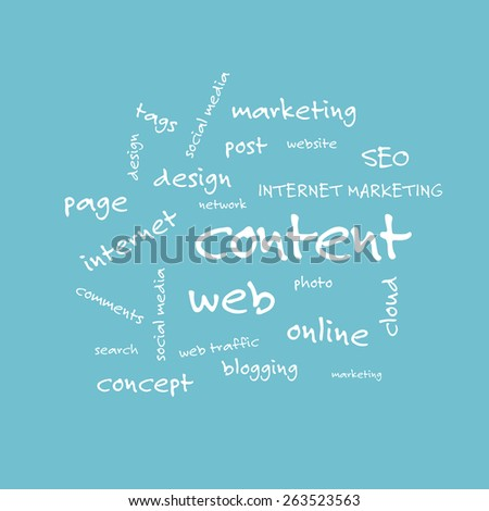 Word cloud. Content concept - stock photo