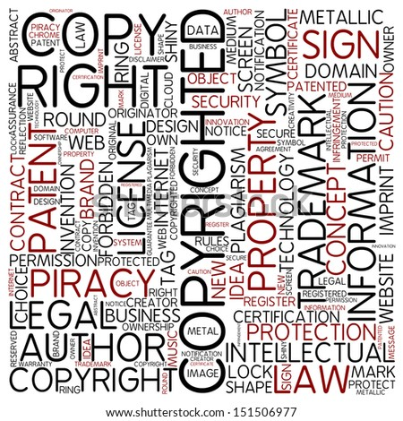 Word cloud - copyrighted - stock photo