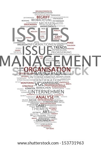 Word cloud -  issue management - stock photo